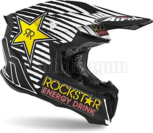 AIROH TW2RK35 - Casco integrale da moto OFF-ROAD opaco Twist 2.0 Rockstar 2020 SZ M