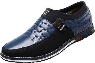 zpllstratos Mocassins Slip-on Loafers Cuir Souple Suédé Homme Bout Ronde Chaussure de Ville Conduite Bateau Détente 38-48