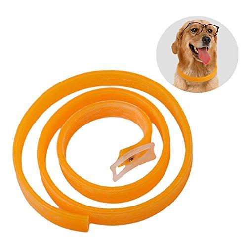 Collar de pulgas repelente de hierbas para perro grande y mediano, producto para la prevención de garrapatas y pulgas ajustable, de larga duración, resistente al agua, agradable olor