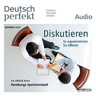 Deutsch perfekt Audio - Diskutieren. 10/2015 Titelbild