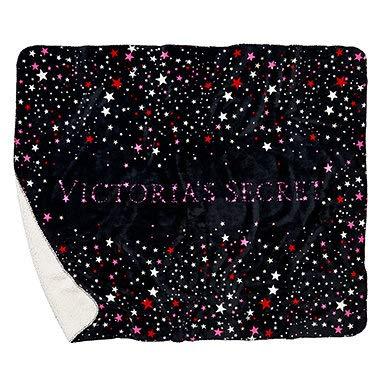 vs pink collection Victoria Secret Sherpa Blanket Couverture