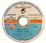 10 Stück Trennscheibe für Stahl 115 x 1,0 mm 41A30RBF Blauflex