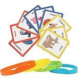 Asixxsix Juegos de Rompecabezas para niños Juguetes de Cartas cognitivos Juegos de Rompecabezas Adivina para Padres e Hijos