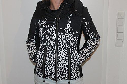 Sportalm Kitzbühel Challenge Damen Ski Jacke Leopard Print Schwarz Weiß XS, S, L (40)