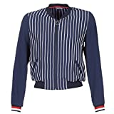 Tommy Hilfiger Women's NALOME Global Bomber LS Jacket, Blue (Hollie STP Peacoat 424), 34 (Size: 4)