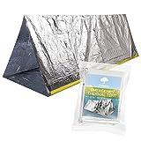 Tente de Survie Thermique d'urgence, Abri Couverture d'urgence| Réutilisable & Imperméable| Compact &...