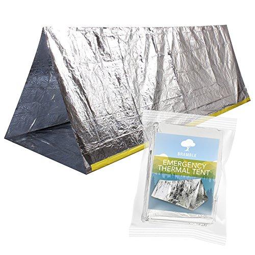 Notfall-Zelt Rettungszelt, Survival Thermo Zelt| Wiederverwendbar, Wasserdicht & Ultraleicht| Kompakt & Tragbar, Platz für Bis zu 2 Personen| Emergency Outdoor Sports Camping Wandern Trekking.