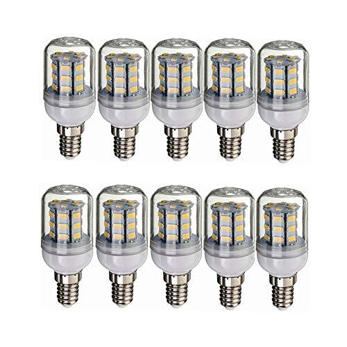 Bombilla LED Bombilla de bajo voltaje E14 LED 12V 24V, 3000K blanco cálido / 6000K blanco fresco, 4W 260-300lm, Dc12-80v No regulable Candelabro Bombillas LED (10 PCS) [energía Clase A +] Ilum