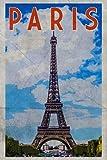Paris: Vintage Notebook Journal Diary Planner