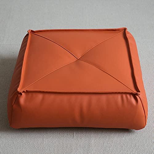 Lankfun Cojines de Asiento Redondos de Fieltro,Cojín de Suelo de Cuero Engrosamiento-N_45 * 45 * 15cm,Cojín para el Suelo