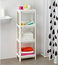 Toshionics Shower Caddy Corner Shelves Bathroom Shelving Unit Plastic Shelf Kitchen Bathroom Storage rust proof 4 Tiers Sh...