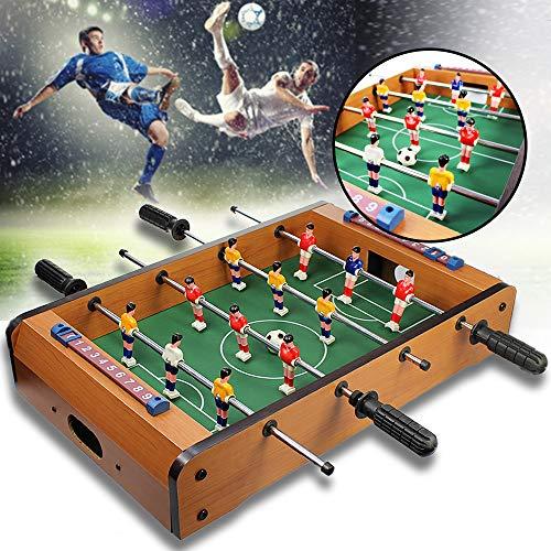 Monsterzeug Tischkicker aus Holz, Mini Krökeltisch, Tischfussball für Zuhause, Kleiner Fußball Tisch für Kinder und Erwachsene