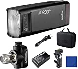 Godox AD200Pro 200Ws 2.4G TTL HSS 1 / 8000s Pocket Flash Monolight Double Strobe...