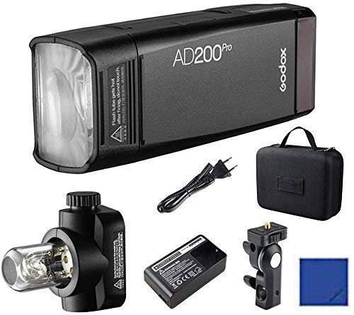 Godox AD200Pro 200Ws 2.4G TTL HSS 1/8000 Pocket Flash Monolight Double Head Strobe con batteria al...