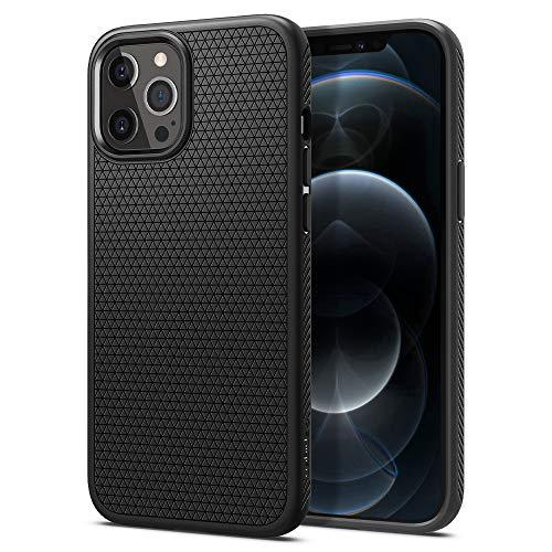 Spigen Liquid Air Hülle Kompatibel mit iPhone 12 Pro Max -Schwarz