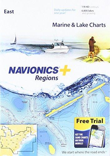 Price comparison product image Navionics Plus Regions East Marine and Lake Charts on SD / MSD