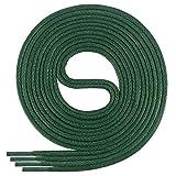 Di Ficchiano-SW-03-dark.green-120 gewachste runde Schnürsenkel, Schuband, Laces, Durchmesser 2-4 mm für Businessschuhe, Anzugschuhe und Lederschuhe