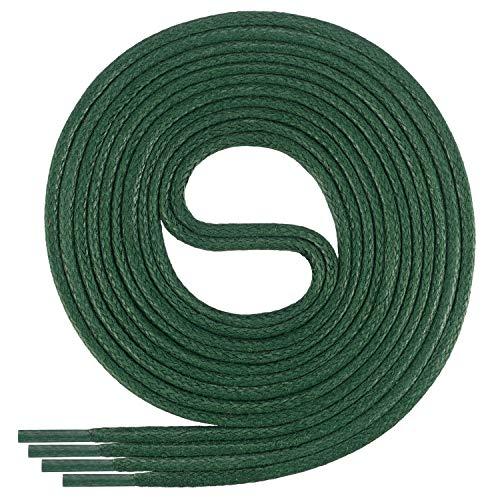 Di Ficchiano DF-SW-03-dark.green-130 gewachste runde Schnürsenkel, Schuband, Laces, Durchmesser 2-4 mm für Businessschuhe, Anzugschuhe und Lederschuhe