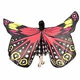 Mädchen Faschingskostüme Schmetterling Schal Kinder Kostüm Schmetterlingsflügel Pixie Cosplay Pixie Butterfly Nymph Wings Flügel Poncho Plus size Kostümzubehör 235 * 170CM