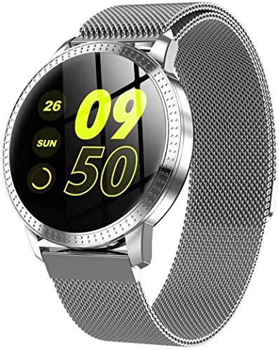 ZHENAO Fitness Tracker Smart Fitness Tracker/Smart Pulsera, Bluetooth Al Aire Libre Reloj Inteligente Deportivo Pulsera Gris, Pulsera para Niños Mujeres Hombres Deporte Fitness Ra