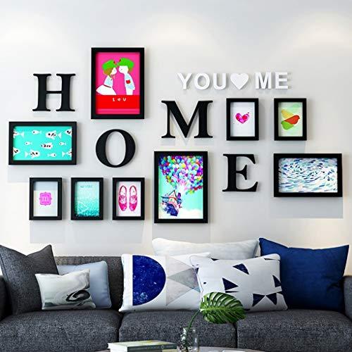 FEE-ZC Cadre Mur de Photo Décoration de Mur de Photo Combinaison de Mur de Photo Simple Moderne Salon Chambre à Coucher Creative Photo Fond Mur Design à la Mode (Couleur: G)