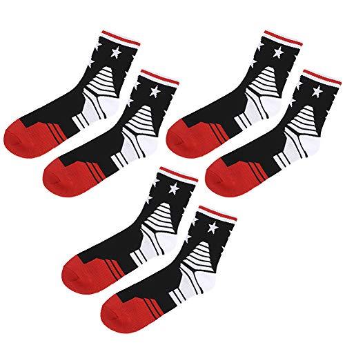 TAKE FANS 3 pares al aire libre hombres deportes calcetines sudor absorción suave toalla inferior baloncesto calcetines