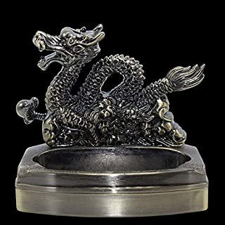Portable dragon ashtray with inflatable lighter smoking accessories home decorations cigarette ashtray (Color : As picture)