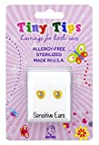 STUDEX Birthstone Tiny Tips April Crystal Stud Earrings in Tiffany Setting for Little Sensitive Ears 4mm