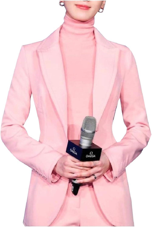 Doanpa Women Formal Blazer Fit Long Sleeve Business 2Piece Suits Set