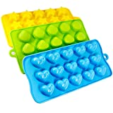 Senhai Silicone Molds 3 Pack Caramelle, Cioccolato Stampi Ice Cube Vassoi - Cuori, Stars & Conchiglie, Divertimento, Bambini Toy Set