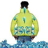 Chaleco de enfriamiento para hombres Chaleco de enfriamiento de hielo para deportes de trabajo Ropa de prevención de solares de solar,Amarillo,3XL