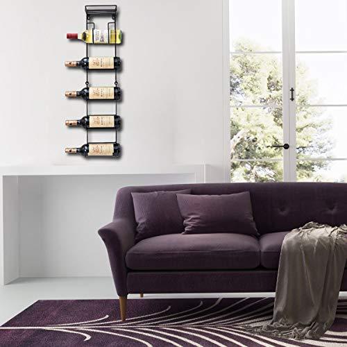 SODUKU Wall Mounted Metal Rack with Top Shelf