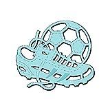 Sweet Dixie Football & Boot Fussball und Fussballschuh Stanze, Metall, Grau, 6 x 6.8 x 0.1 cm