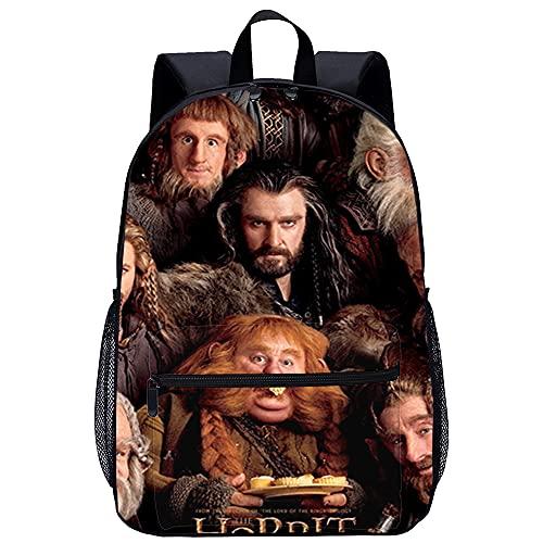 Mochila 3D mochila para niño El Hobbit: Un viaje inesperado Bilbo Bolsón Adecuado para: estudiantes de primaria y secundaria, la mejor opción para viajes al aire libre Tamaño: 45x30x15 cm / 17 pulga