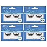 Ardell Aqua False Strip Lashes 340, Water Activated, Reusable Faux Lash, No Lash Glue Required, 4 Pack