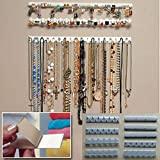 L-DiscountStore Présentoir à Bijoux 9-en-1 Bijoux présentoir adhésif Coller Mur accrocher Collier Cintre
