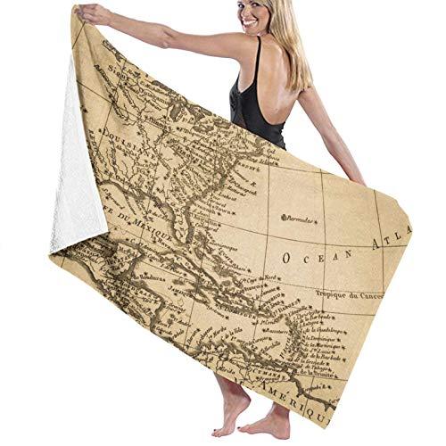 Toalla de baño, toalla de playa, absorbente, suave, 80 x 130 cm