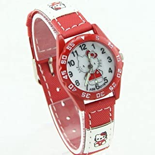 Hello Kitty - Super Cute Sport Style Wrist Watch (Red)