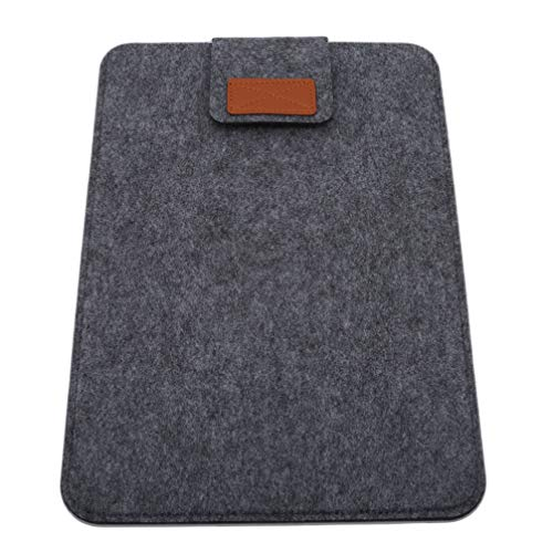 Toporchid Filz Laptop-Hülle mit 13-Zoll-Futter, Grafik-Zeichentablett (dunkelgrau)