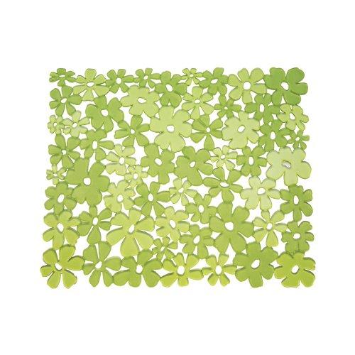 InterDesign Blumz Tappetino lavello, Tappetino proteggi lavandino di misura standard in plastica PVC, verde