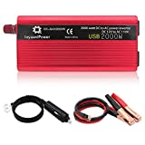 LVYUAN Power Inverter 1200W/2000W(Peak) DC to AC 12V to 110V Car Inverter DC 12V Inverter with 3.1A USB Car Adapter with Battery...