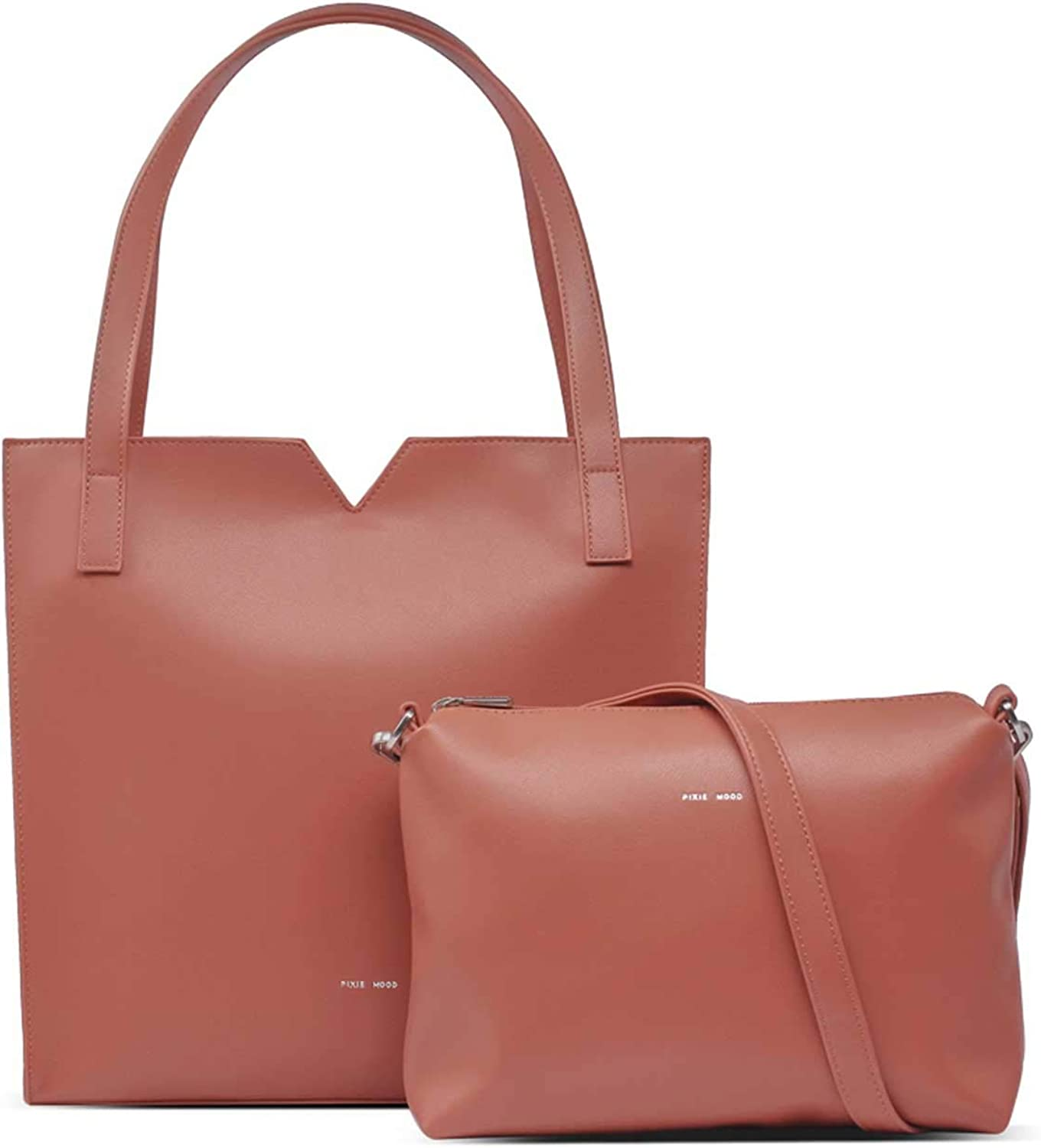 Large discharge sale Pixie Mood Alicia 13 Max 71% OFF x Convertible Leather Crossbody To Vegan