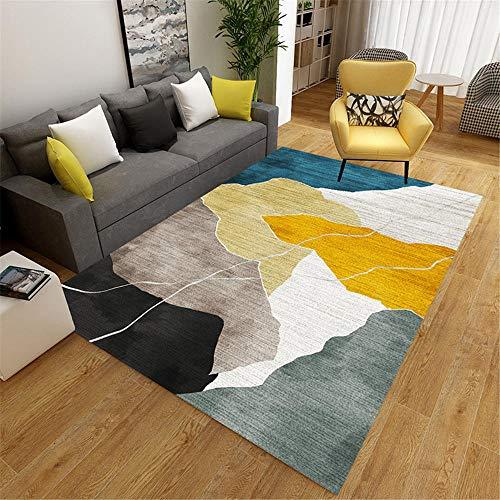 alfombras infantiles juegos alfombras exterior jardin Alfombra de sala de estar, decoración de dormitorio moderna, resistente a la suciedad, resistente al desgaste y antideslizante alfombras grandes 1