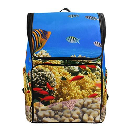 Fantazio Coral Colony Reef Sac à Dos pour Ordinateur Portable, Voyage, randonnée, Camping, décontracté, Grand Sac à Dos pour l'école