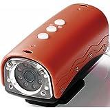 Rollei Action Cam 100 Camcorder (5 Megapixel, 4 helle weiße LEDs, 20m Wasserdicht, HD-Video-Auflösung) rot