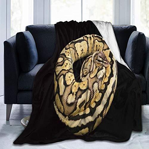 XINGAKA Manta de Franela Suave,Imagen de Python Morph,Cama de Camping para sofá 153x127cm ⭐