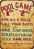 Carnival Midway Pool Game Rules Cartel de pared de hojalata Señal de advertencia Placa de hierro de metal retro Pintura Arte Decoración para el hogar Pub Oficina 30x40cm