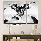 XIANRENGE Leinwanddrucke,3 Panel Adler Vögel Poster