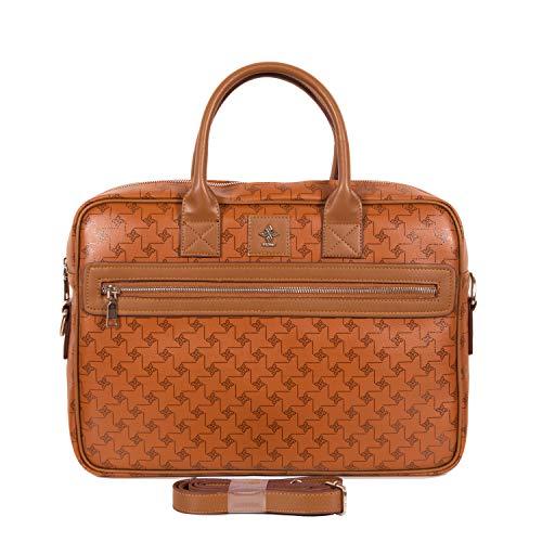 Aktentasche Damen mit Laptopfach | Damen Notebook Tasche | Modische Laptoptasche für Frauen | Businesstasche Damen vegan mit viel Platz | Business- & Laptop-Taschen für Frauen von Gio&Mi (Cognac)