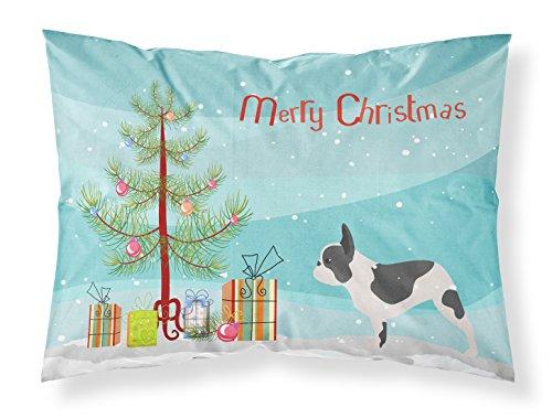 Caroline's Treasures BB2959PILLOWCASE French Bulldog Merry Christmas Tree Fabric Standard Pillowcase, Standard, Multicolor